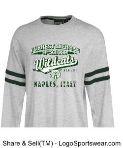 Forrest Sherman High School Alumni Wildcat Naples Italy Vintage Style T Shirt Jersey Design Zoom
